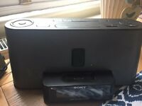 Sony Ipod dock with radio