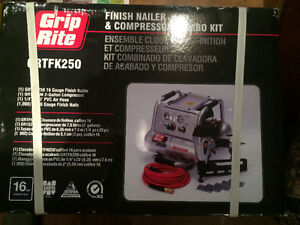 Brand new Grip rite compressor + nailer