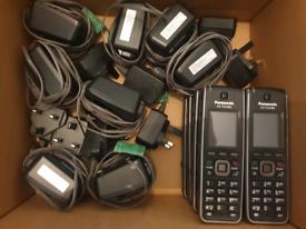Panasonic KX-TCA185 Phones plus Charging Base + Lead 1.8in LCD Screen!