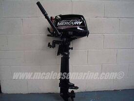 2015 Mercury 5HP manual start long shaft outboard.