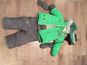 24 months 2 piece Winter suit with accessories