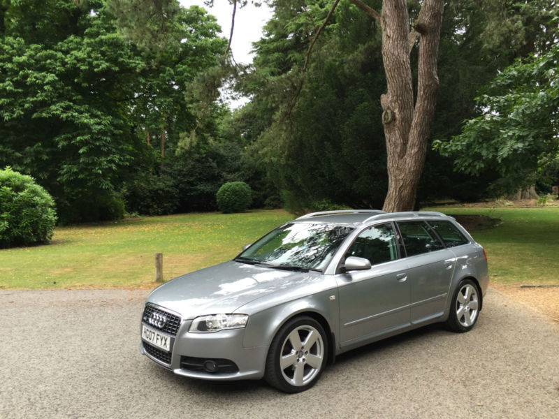 2007 07 audi a4 avant 2 0 tdi s line 5 door estate silver. Black Bedroom Furniture Sets. Home Design Ideas