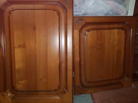 Oak kitchen doors. Used. Free