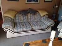 Three seater settee and matching chair