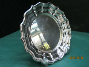 VINTAGE SILVER ROUND PLATE