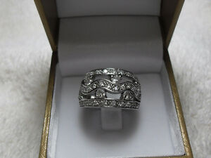 WIDE BAND – DINNER RING – Size 8 (.925 SS)