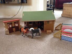 Wooden stable play set