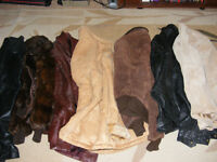 SELLING AS 1 LOT - LEATHER & FUR CLOTHING FOR CRAFTS