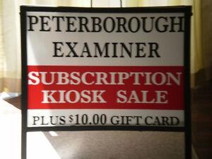 PETERBOROUGH EXAMINER KIOSK IS BACK AGAIN with ez pay. Peterborough Peterborough Area image 1