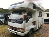 ISUZU ELF 4 / 5 BERTH MOTORHOME AUTOMATIC FRESH IMPORT RUST FREE