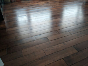 Plancher Merisier en Bois Franc/ Hard Wood Birch Flooring