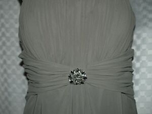 Chiffon spagetti strap bridemaid dress