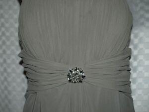 Chiffon spagetti strap bridemaid dress