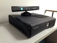 XBOX 360 250g HD with Kinect and 15 games