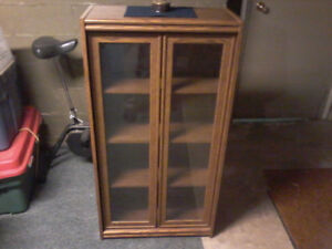 China Cabinet/Bookcase with glass doors