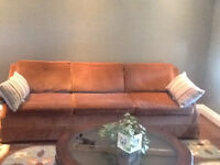 Retro couch and matching chair