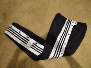 Adidas Black White Tearaway Pants Mens M Like New Never Worn