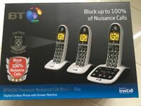 BT8500 Premium Nuisance Call Blocker. Triple Handsets.