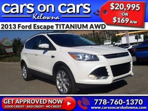 2013 Ford Escape TITANIUM AWD w/EcoBoost, Leather, Sunroof, Navi