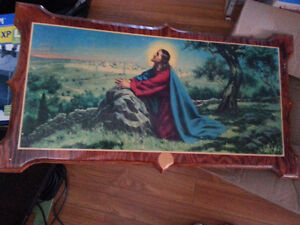 Solid wood Picture of Jesus Cambridge Kitchener Area image 1