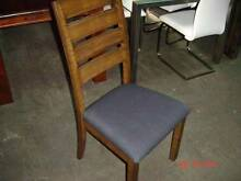 8 DINING CHAIRS SOLID HARDWOOD WITH LINEN SEAT Thebarton West Torrens Area Preview