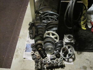 V-belt Pulleys, Bearings, Sprockets -- $5 to $40 each