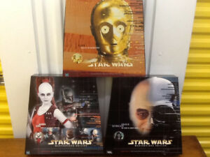 Darth Vader, C3P0, Aurra Sing 1999 Star Wars Boxed Figures MIB