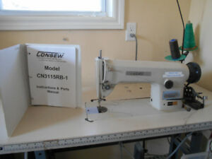 REDUCED PRICE - Consew industrial sewing machine and table