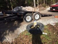 17' tilt and load trailer