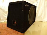"Mutant speaker box with 12"" speaker and simms watts tweeter box with 2 tweeters £40 ono"