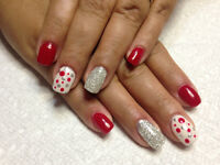 gel, acrylic Valentine great deal full set for only $50.00