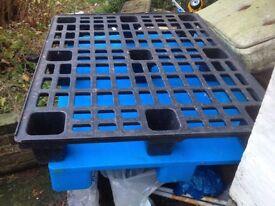 Plastic pallet for sale.