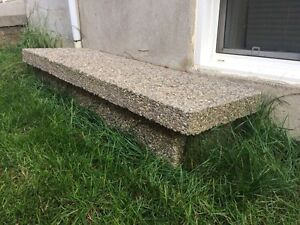 Step - pebble stone step for outdoor door step