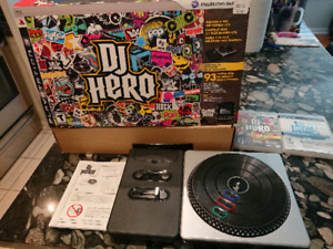 DJ Hero 1 & 2 boxed with turntable
