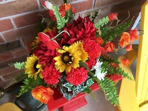 Two beautiful, brand new artificial fall flower arrangements
