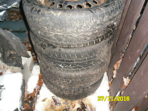 4 winters tires 225/50r17 with chevy equinox rims 5x115