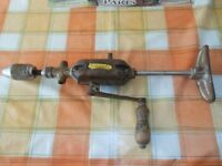 """A Vintage ½"""" 2 speed Stanley hand drill - 1960s."""