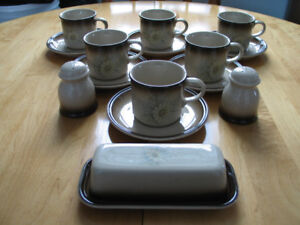 DINNERWARE (CUPS /SAUCERS / BUTTER DISH / S/P) BY JOHNSON BROS