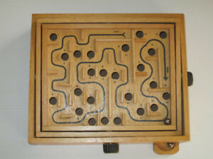 Wooden Multiplane Labyrinth Pinball Maze