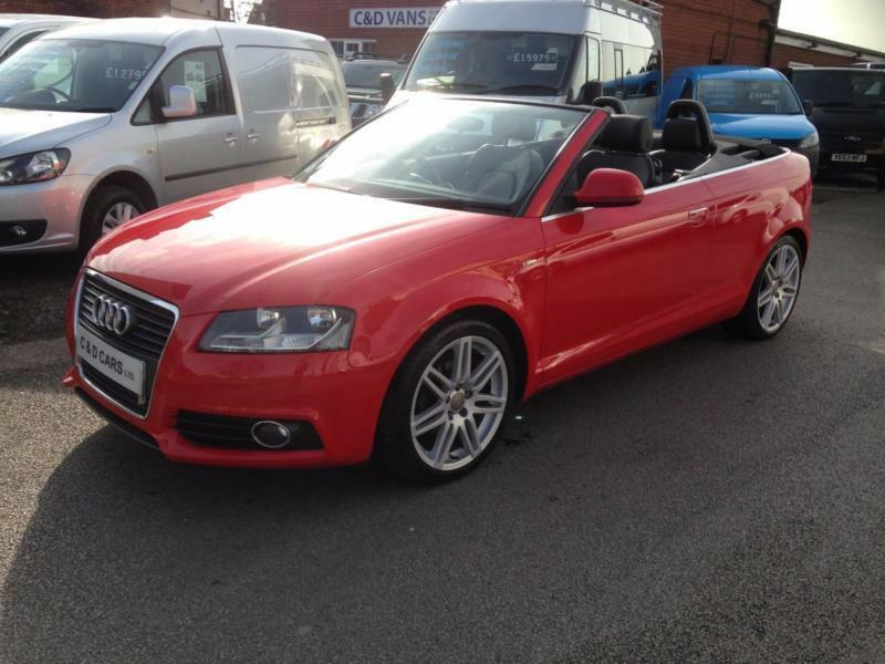 2009 audi a3 cabriolet 2 0tdi s line in monza red full audi service history in southport. Black Bedroom Furniture Sets. Home Design Ideas