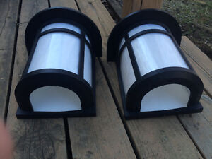 Pair of outdoor lights - excellent condition with wiring
