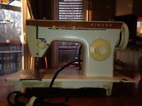 Vintage Singer Sewing Machine with table (model 247)