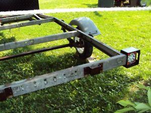 galvinized tilt boat trailer frame