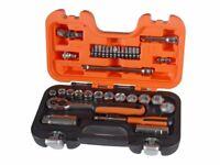 Bahco S330 Socket Set of 34 Metric 1/4in & 3/8in Drive, screwdriver xmas gift set