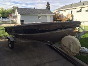 14FT Lund Boat with Honda Motor