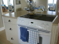 GLASS TOP STOVE WITH SELF CLEANING OVEN *MINT