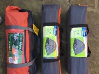Brand new Camping tents for sale 2x 4 man and 1 x 2 man
