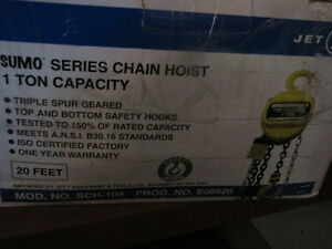 JET One Ton Chain Hoist and JET One Ton Beam Trolley