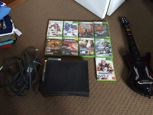 Black Xbox 360 120GB HDD + Wifi Adapter and all cords!
