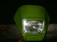 Kawasaki front fairing with headlight, new condition(sold ppu)